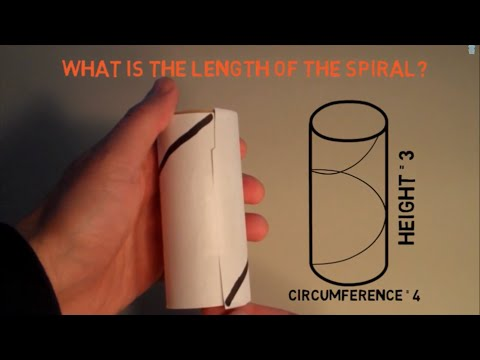 The Length Of A Spiral (Helix) Of A Cylinder