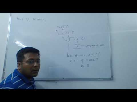 PRACTICAL MATHEMATICS- finding HCF of two numbers by long division method