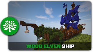 Minecraft Building Tutorial : How to build a Wood Elven