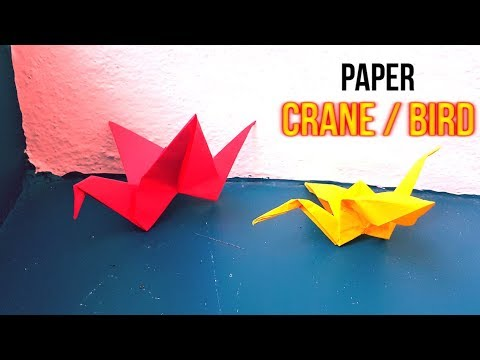 How to make an Origami Paper Bird that Flaps its Wings