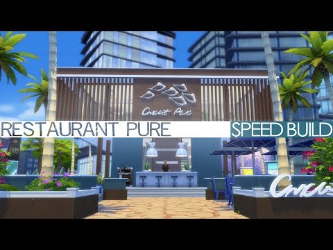 The Sims 4 Speed Build - RESTAURANT PURE