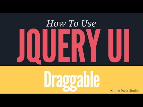 Getting Started with jQuery UI: How to create draggable object in Jquery UI with simple line of code