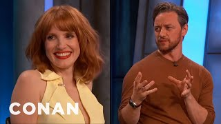 James McAvoy & Jessica Chastain Want To Make More Movies Together - CONAN on TBS