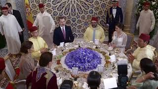 SS.MM. los Reyes en la cena de gala ofrecida por el Rey de Marruecos