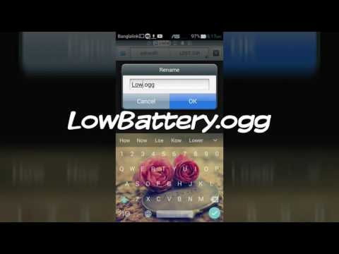 How To Change Battery Low Warning Tone On Android Without Apps
