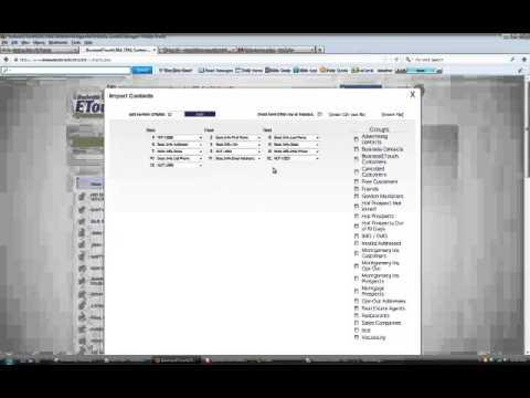 Business Contact Manager Importing Contacts for an Excel File Training