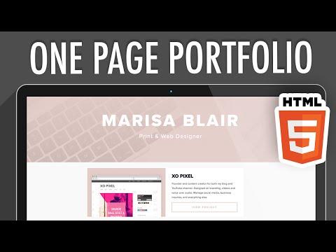 One Page Portfolio Website HTML5 (PART 1) | XO PIXEL