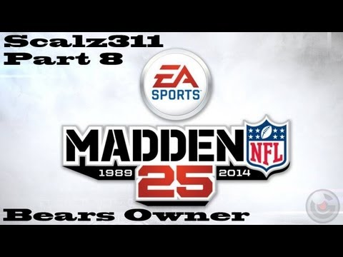 Let's Play Madden 25 Chicago Bears Owner Career Part 8 - Green Bay Packers