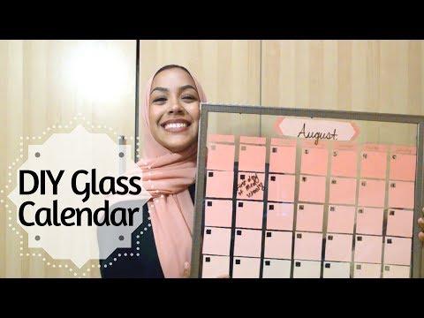 DIY Dry-Erase Glass Calendar- 2 minute tutorial!