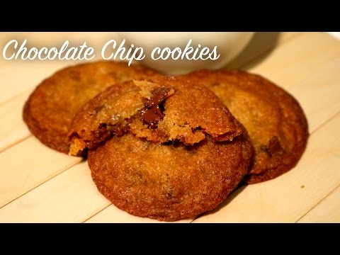 How to make thin and crispy Chocolate chip cookies || Chocolate chip cookies