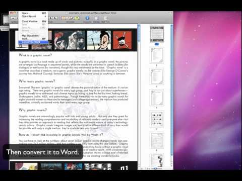 Convert PDF to Word With PDF Editor for Mac Beta, FREE!