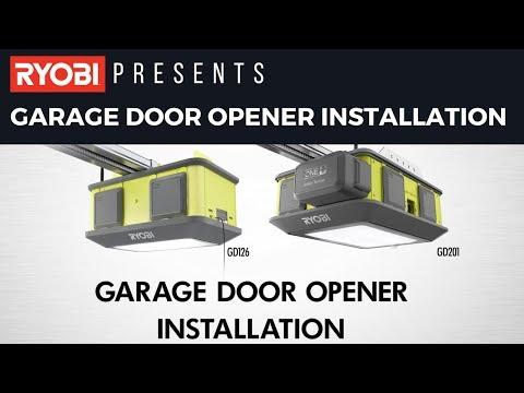 RYOBI Garage Door Opener Installation