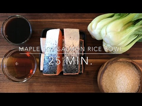 5 Ingredient Meal: Maple Soy Glazed Salmon Rice Bowls
