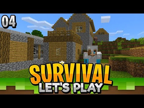 WE FOUND A VILLAGE!! - Minecraft Survival Let's Play EP.4 (PE WIN10)