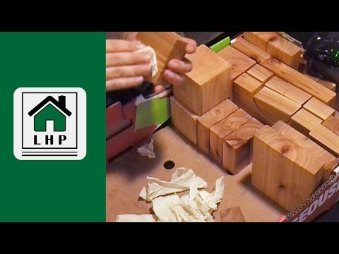 Finishing Wooden Building Blocks with a Hot Marks Iron and Homemade Wood Polish - LHP - 2 of 2