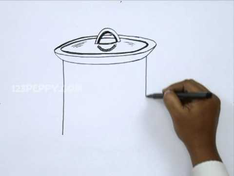 How to Draw a Slow Cooker