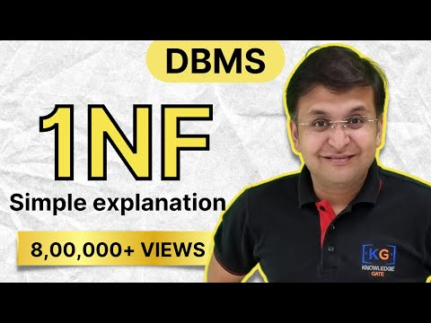 Part-9   First Normal form in DBMS in HINDI   1NF   example database normalization definition