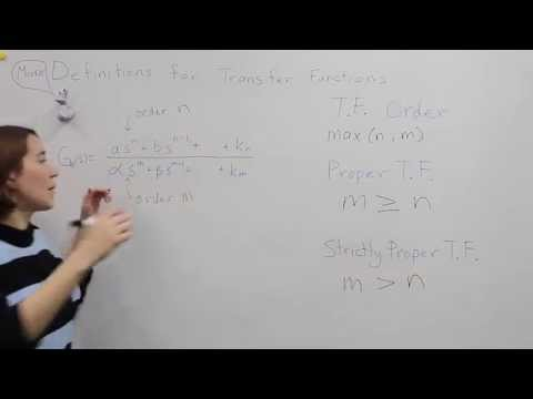 Intro to Control - 4.2 More Definitions for Tranfer Functions