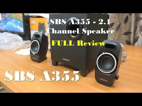 Creative SBS A355 Speaker Review | 2.1 Channel Speaker 2015