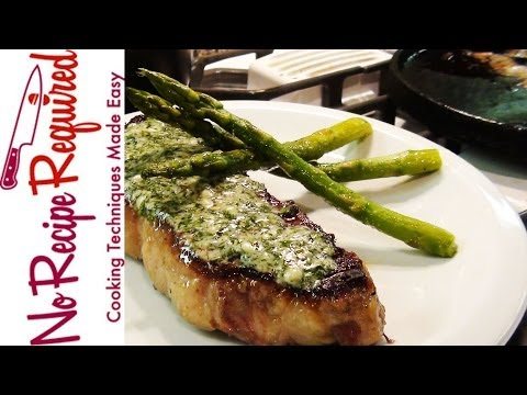 New York Strip Steak with Blue Cheese Butter - NoRecipeRequired.com