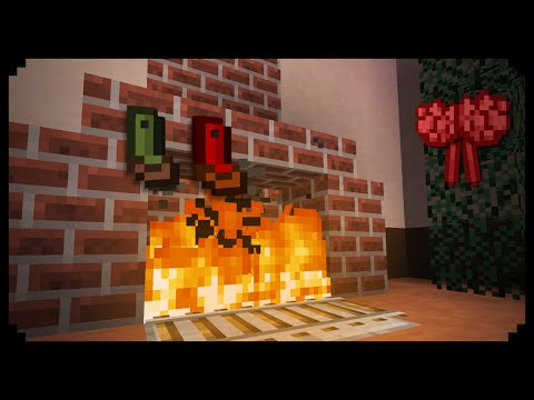 ✔ Minecraft: How to make a Christmas Fireplace
