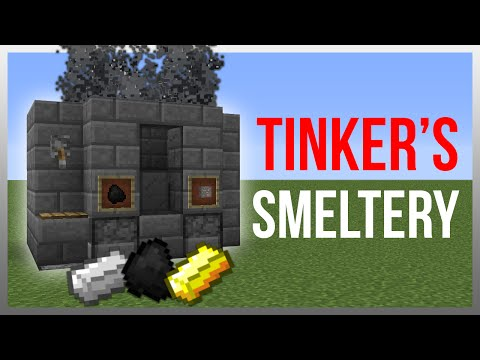 Minecraft 1.12: Redstone Tutorial - Tinker's Construct Smeltery!