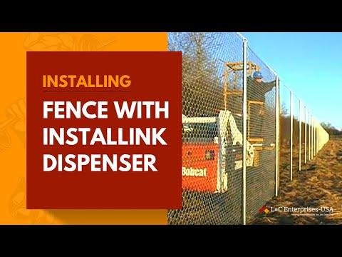 Installing Fence with Installink Fence Dispenser