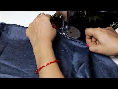 How To Sew Curly Lettuce Hem / Fishing Line Hem on Lehenga/ Frock / Long Gown / Prom Dresses