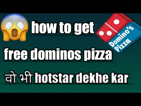 how to get free dominos pizza by watching hotstar|hindi|2018