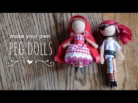 Make your own peg dolls