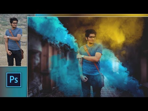 Color Bomb Explosion Effect | UCreationz Color Smoke Spray Photo Editing in Photoshop
