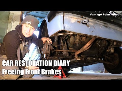 Freeing Front Disc Brake Calipers before Vehicle Registration