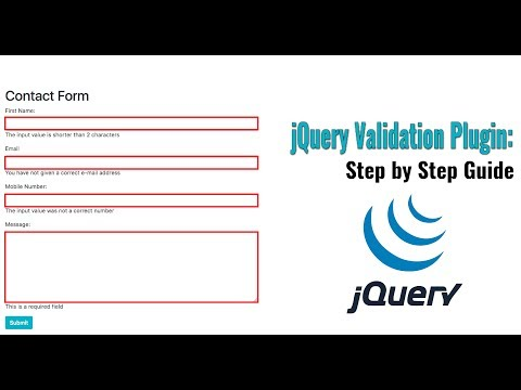 jQuery Validation Plugin: Form validation with jQuery