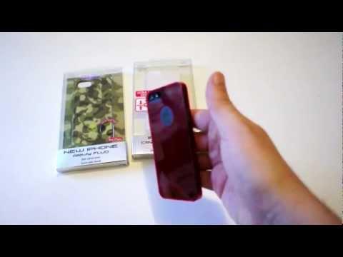 Slim cover Puro trasparente, fluo e militare per iPhone 5