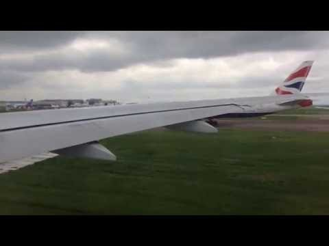 Air Canada Boeing 777-300ER Flight number AC857 From Heathrow to Toronto May 2016.