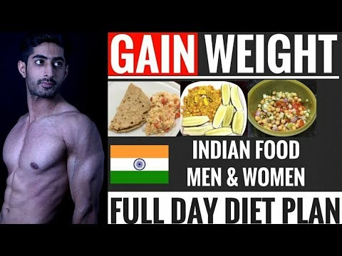 Gain Weight Fast with Full Day of Vegetarian Diet Plan  | Hindi |  हिंदी |