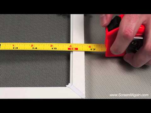 Measuring from Existing Window Screen