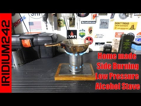Home Made Side Burning Low Pressure Alcohol Stove
