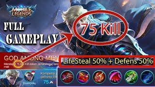 70 KILL   1vs5 Mobile Legends - Gameplay Alucard ML  Cost mode  -  MOBILE LEGENDS