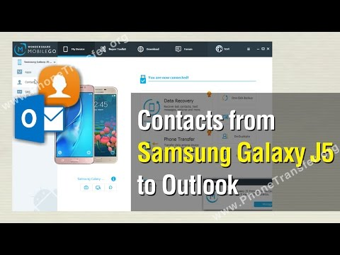 How to Export Contacts from Samsung Galaxy J5 to Outlook