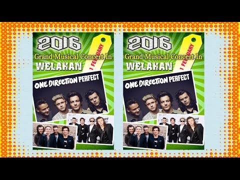 How To Make Music Concert Poster Design In Photoshop (One Direction)