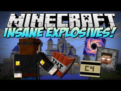 Minecraft | INSANE EXPLOSIVES! (Let's Blow Up DISNEY!) | Mod Showcase [1.5.2]