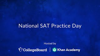 National SAT Practice Test Day