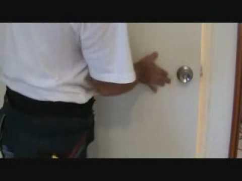 How to fix a door latch