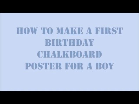 Fast DIY How to make a first birthday chalkboard poster in silhouette studio