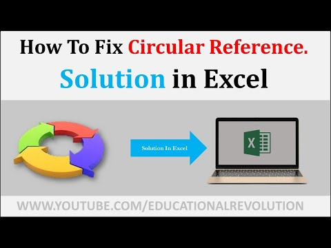 [Microsoft Excel] How to Fix a Circular Reference Error