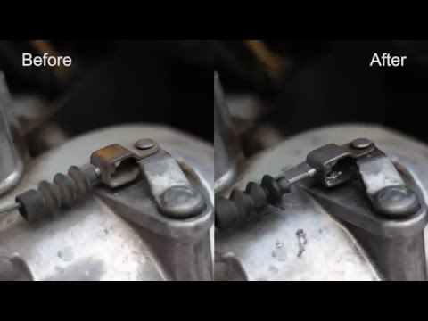 Remove rust from Enfield Bullet parts
