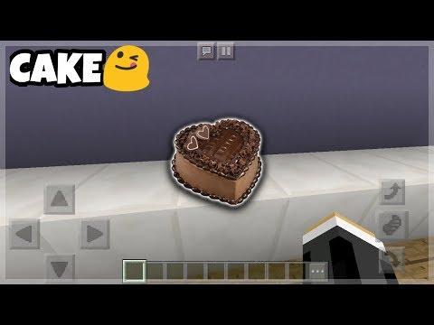 Minecraft PE: Chocolate Cake with Cherry Tutorials