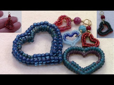 Beaded Heart Charm Jewelry by Mariel
