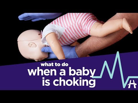 What to do when a baby is choking